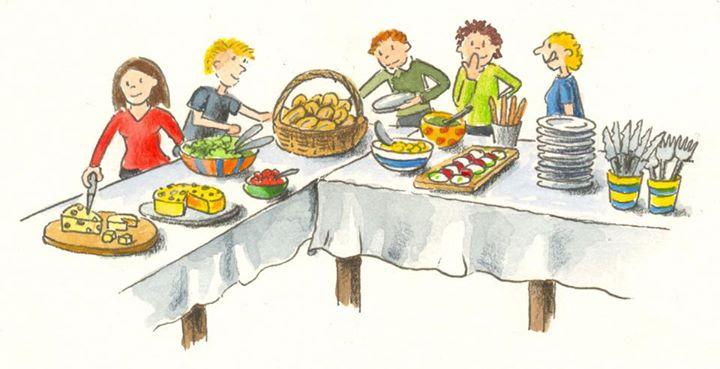 Spiseaften – første tirsdag hver måned